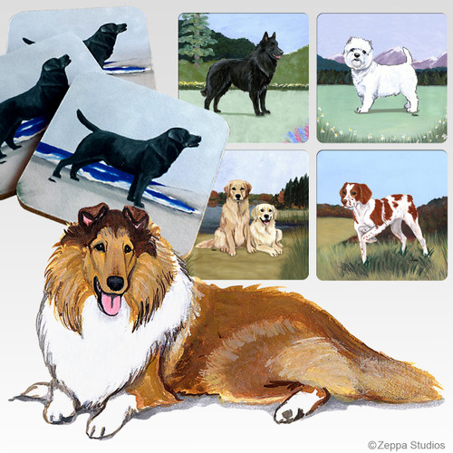 Collie Scenic Coasters