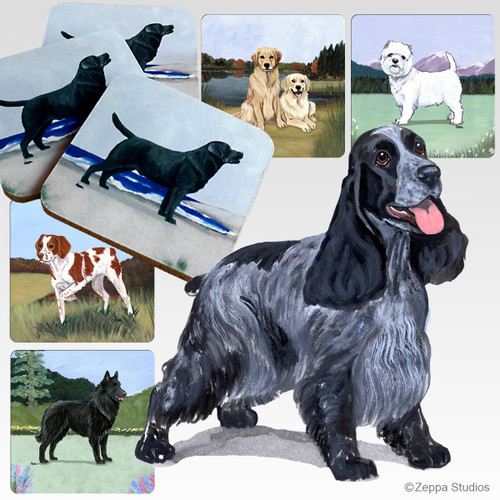 English Cocker Spaniel Scenic Coasters