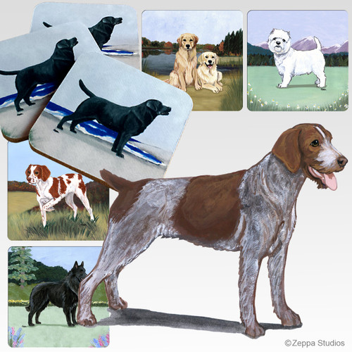 German Wirehaired Pointer Scenic Coasters