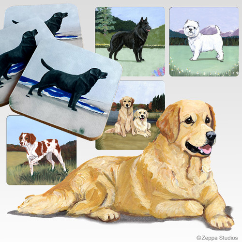 Golden Retriever Scenic Coasters