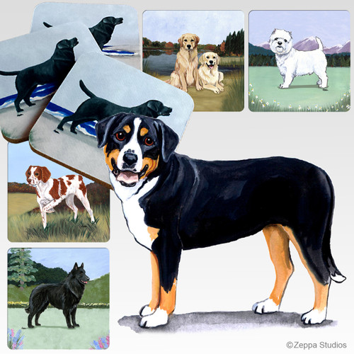 Greater Swiss Mountain Dog Scenic Coasters