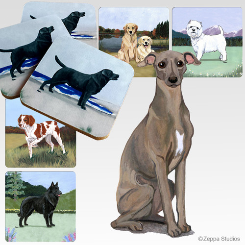 Italian Greyhound Scenic Coasters
