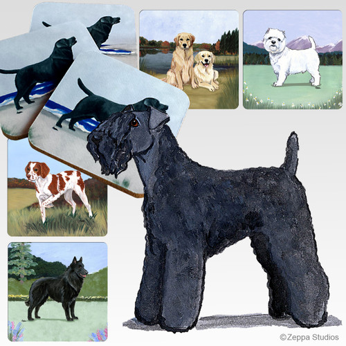 Kerry Blue Terrier Scenic Coasters