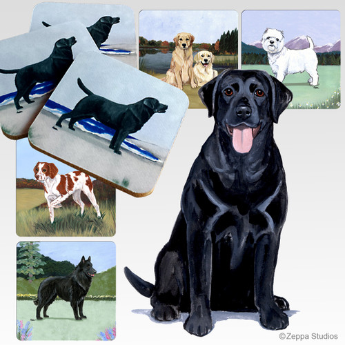 Black Lab Scenic Coasters