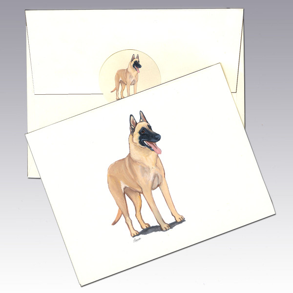 Belgian Malinois Note Cards