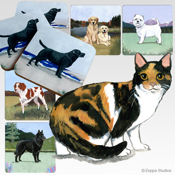 Calico Cat Scenic Coasters