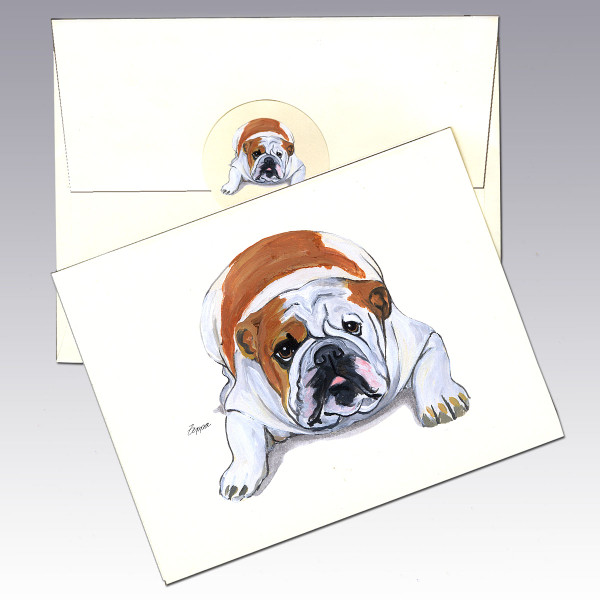 Bulldog Note Cards