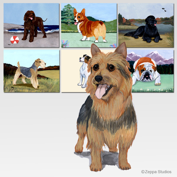 Australian Terrier Scenic Cutting Board - Rectangular