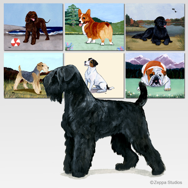 Black Russian Terrier Scenic Cutting Board