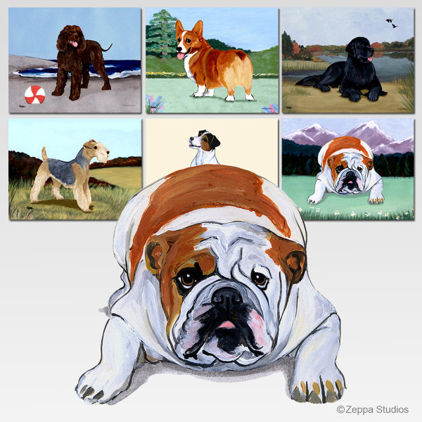 Bulldog Scenic Cutting Board