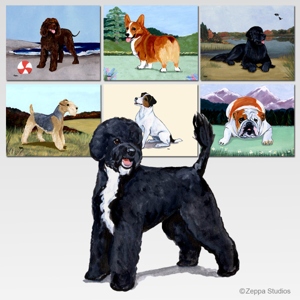 Portuguese Water Dog Puppy Cutting Board