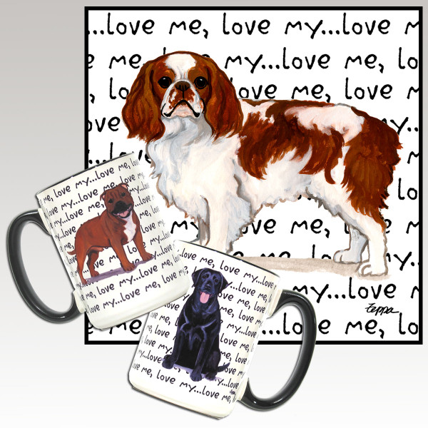 English Toy Spaniel Love Me Mug