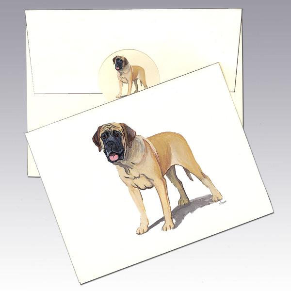 Mastiff Note Cards