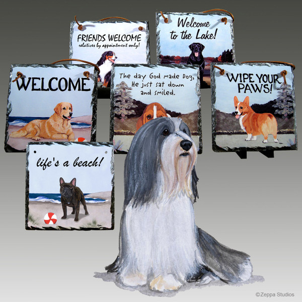 Bearded Collie Slate Signs