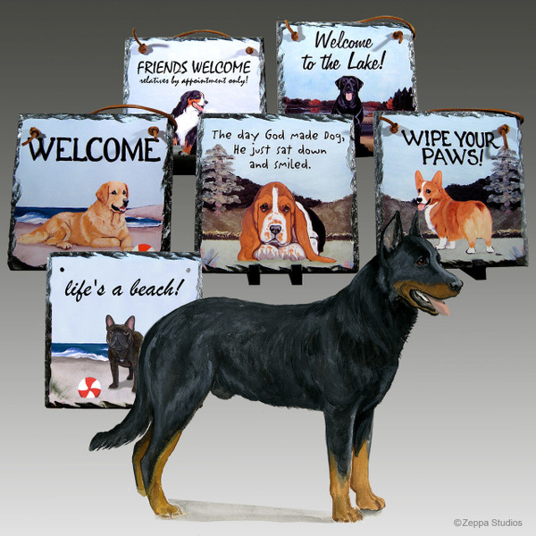 Beauceron Collie Slate Signs