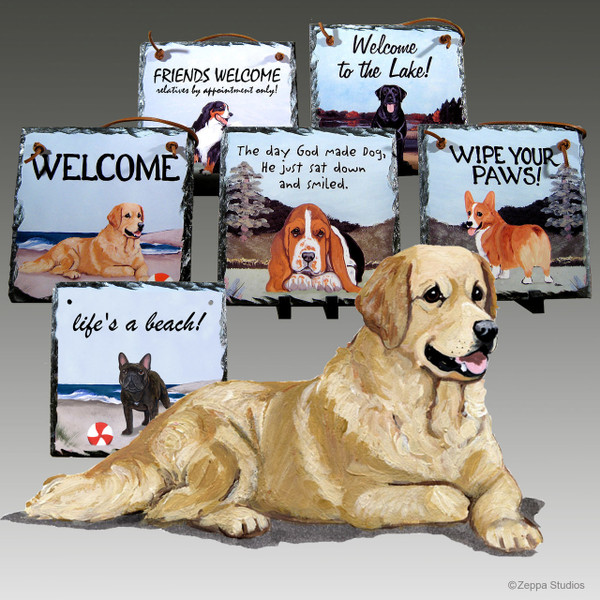 Golden Retriever Slate Signs