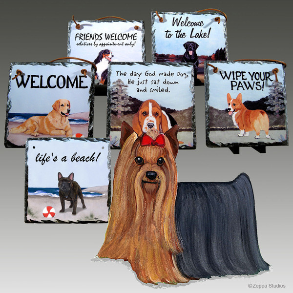 Yorkshire Terrier Slate Signs