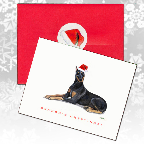 Doberman Christmas Cards