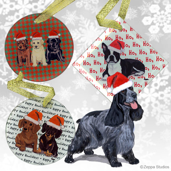 English Cocker Spaniel Christmas Ornament