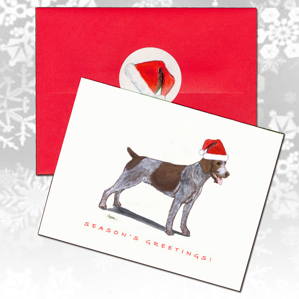 German Wirehaired Pointer Christmas  Cards
