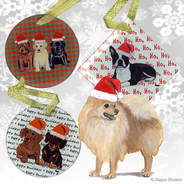 Pomeranian Christmas Ornaments