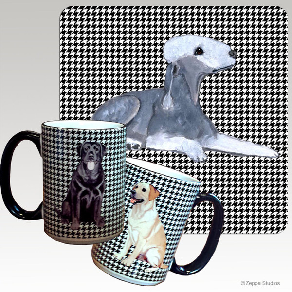 Bedlington Terrier Houndzstooth Mug