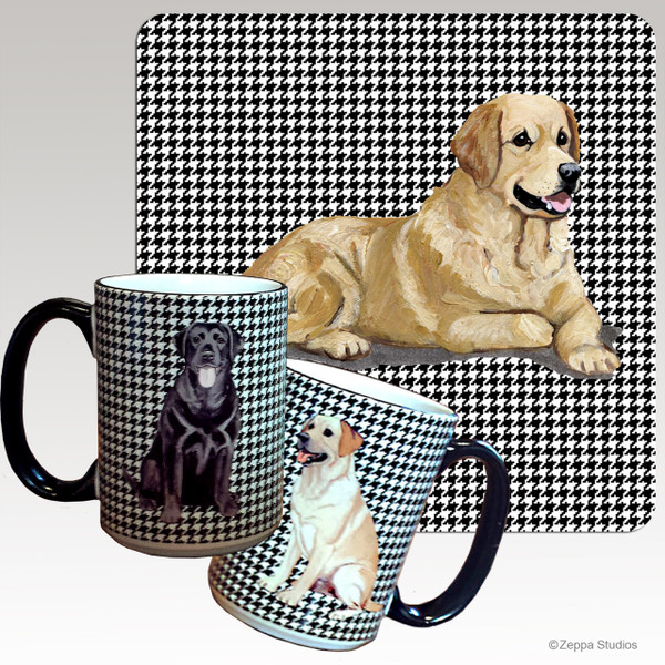 Golden Retriever Houndzstooth Mug