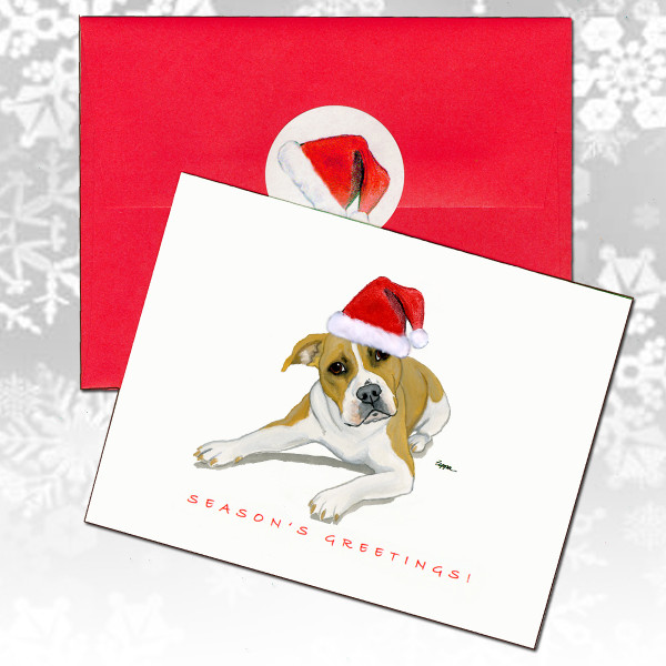 Pitbull Terrier Christmas Cards