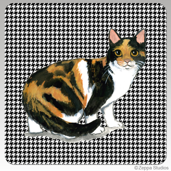 Calico Cat Houndzstooth Coasters