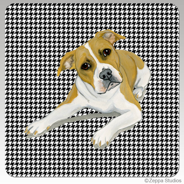 Pit Bull Houndzstooth Beverage Coaster