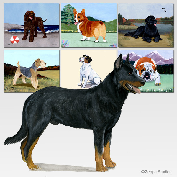 Beauceron Collie Scenic Mouse Pad