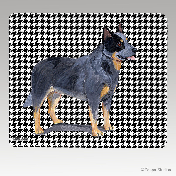 Australian Cattle Dog Houndstooth Mouse Pad