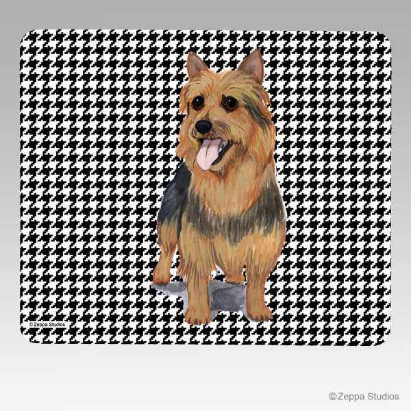 Australian Terrier Houndstooth Mouse Pad