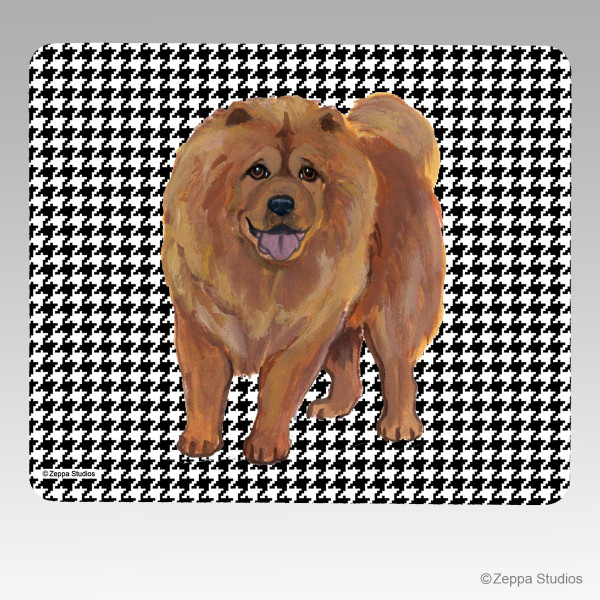 Chow Chow Houndstooth Mouse Pad