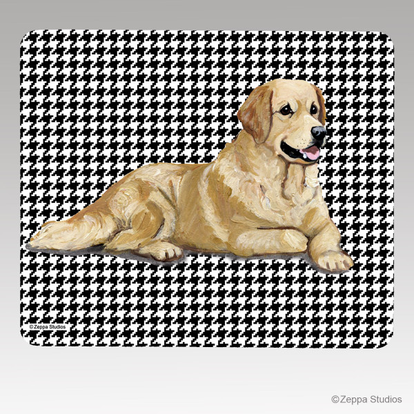 Golden Retriever Houndstooth Mouse Pad