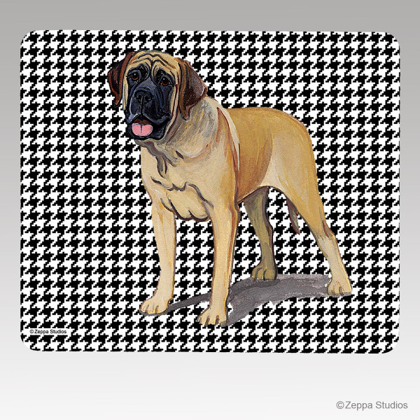 Mastiff Houndstooth Mouse Pad