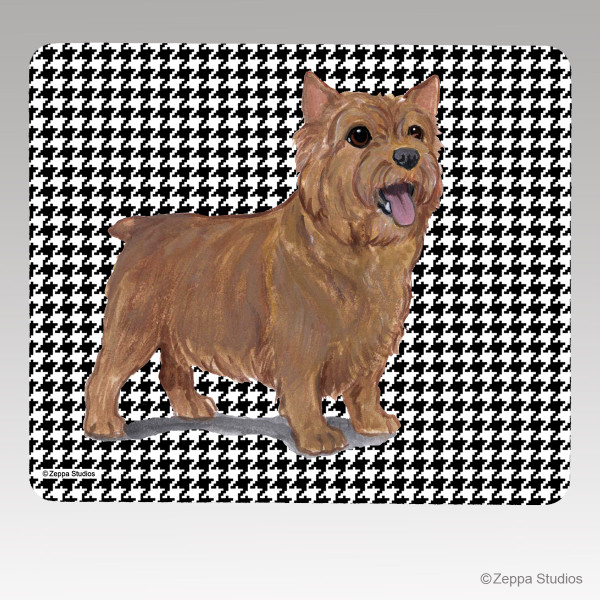 Norwich Terrier Houndstooth Mouse Pad