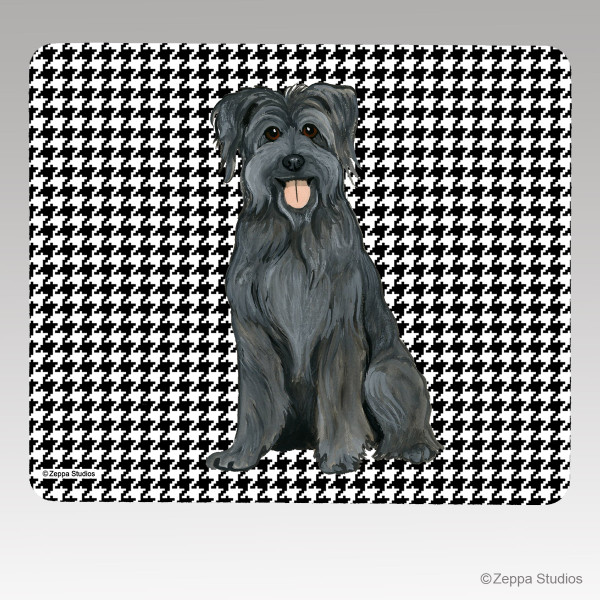 Pyrenean Shepherd Houndstooth Mouse Pad