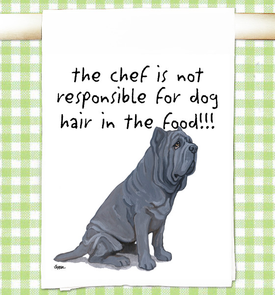 Neopolitan Mastiff Flour Sack Kitchen Towel