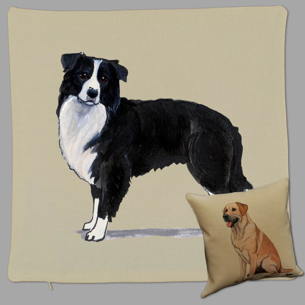 Zeppa Studios' Border Collie Throw Pillow