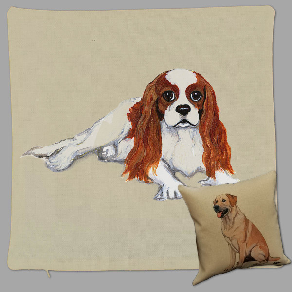 Zeppa Studios Cavalier King Charles Spaniel Throw Pillow