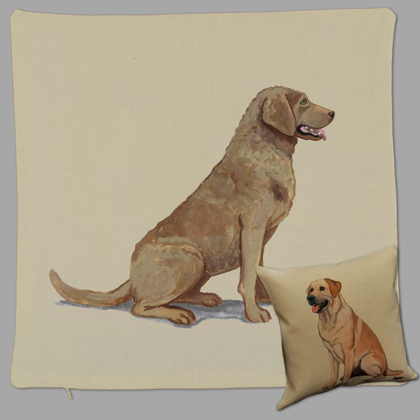 Zeppa Studios' Chesapeake Bay Retriever Throw Pillow
