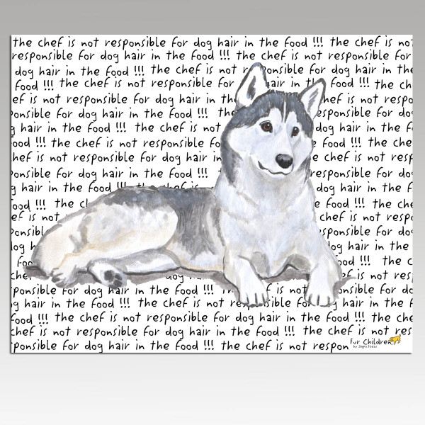 Siberian Husky Message Cutting Board - Rectangle