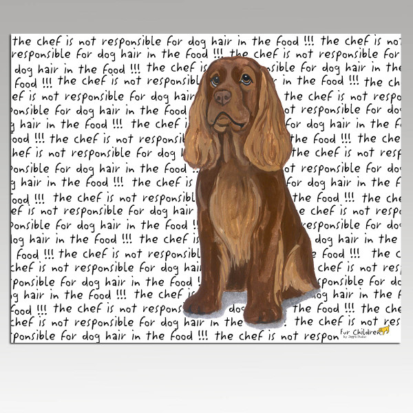 Sussex Spaniel Message Cutting Board - Rectangle
