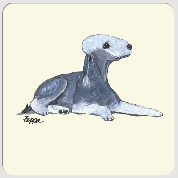 Bedlington Terrier Beverage Coasters