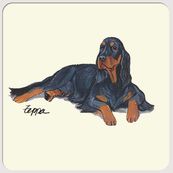 Gordon Setter Beverage Coasters