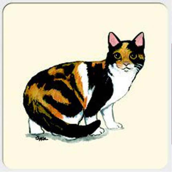 Calico Cat Beverage Coasters