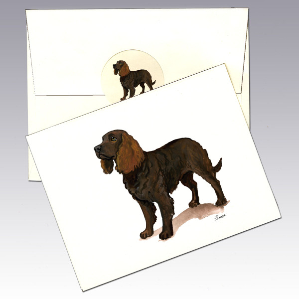 American Water Spaniel Note Cards