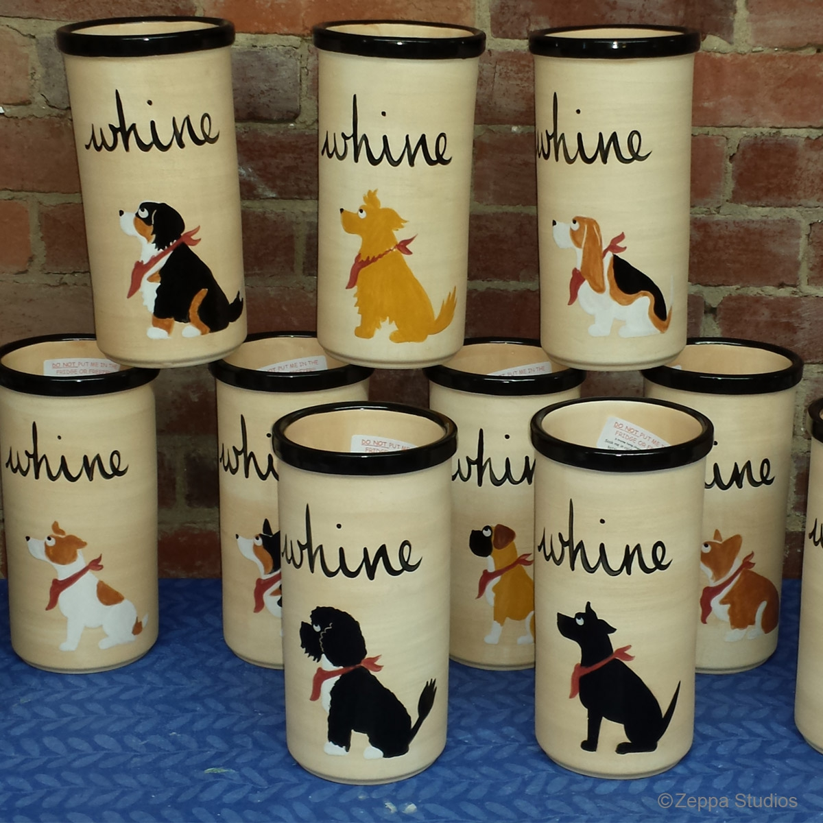 Hand Painted Whine Coolers