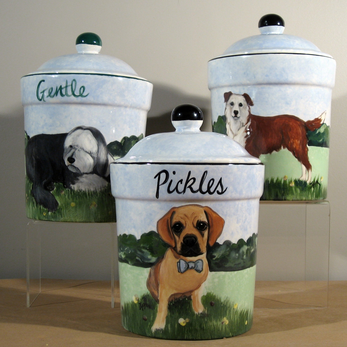 Hand Painted Treat Jars